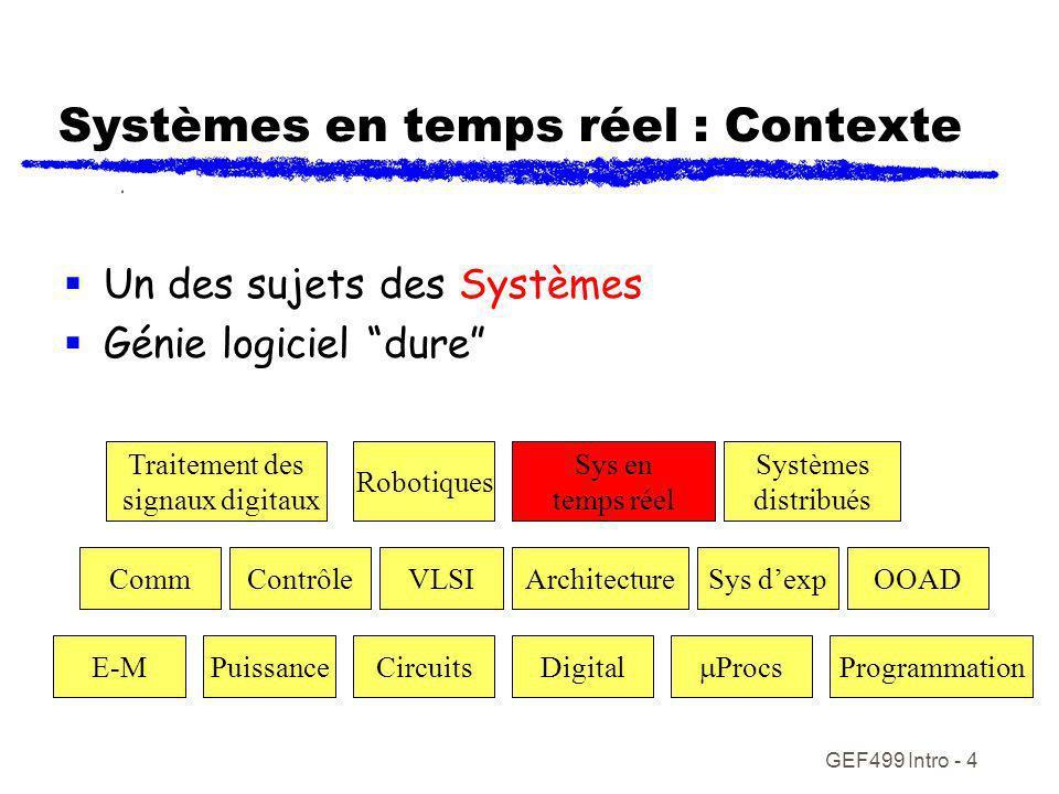 Systèmes en temps réel : Contexte
