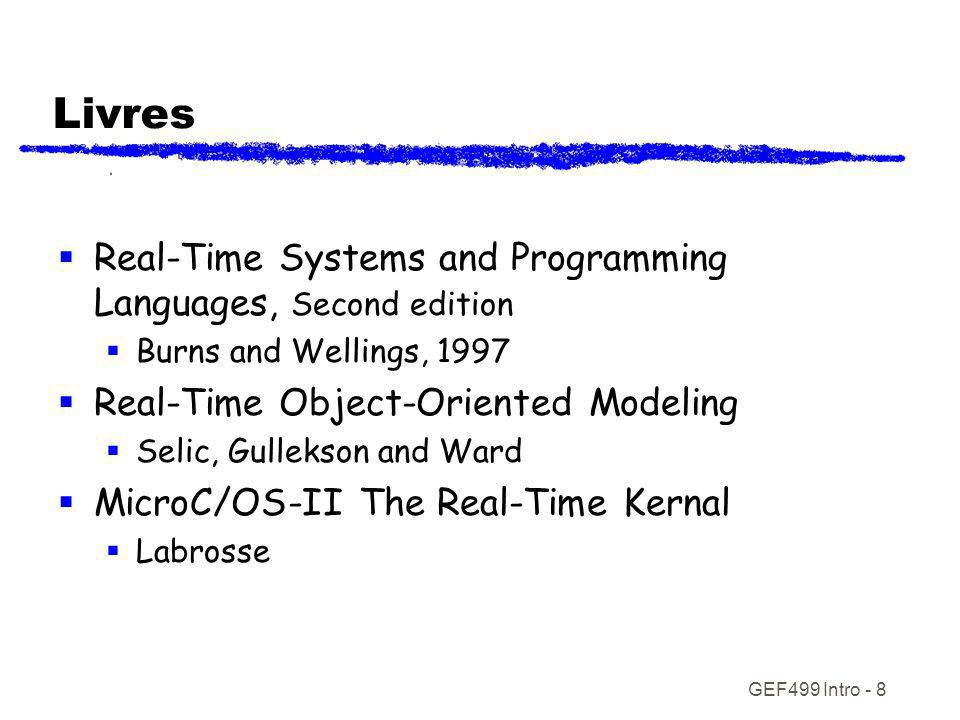 Livres Real-Time Systems and Programming Languages, Second edition