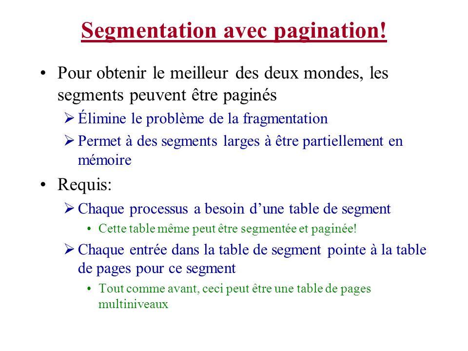 Segmentation avec pagination!