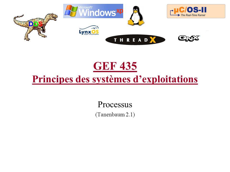 GEF 435 Principes des systèmes d'exploitations