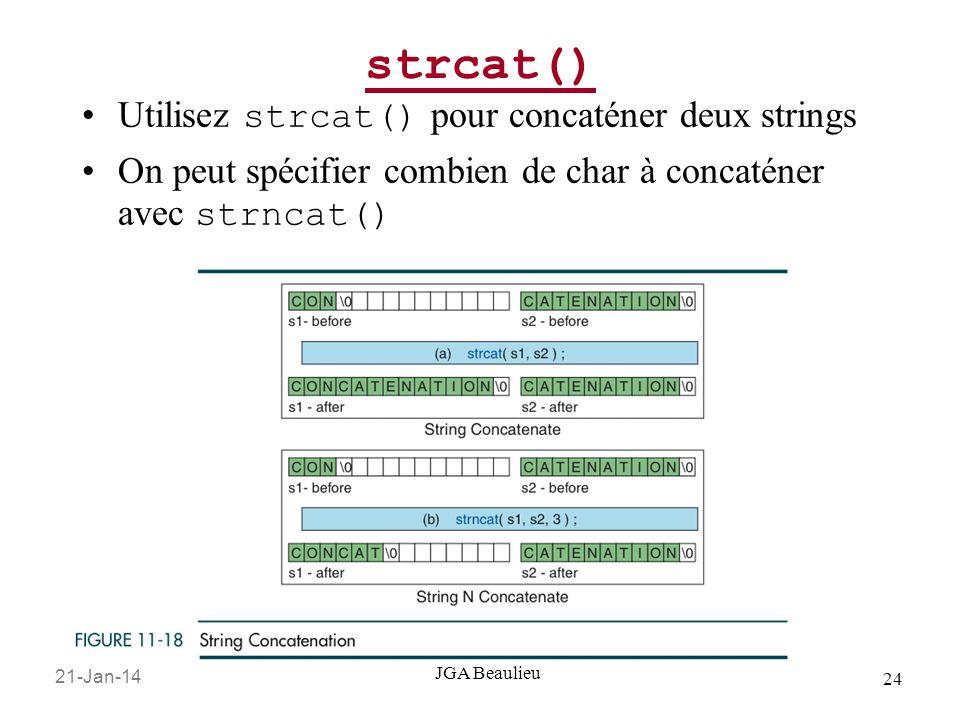 strcat() Utilisez strcat() pour concaténer deux strings