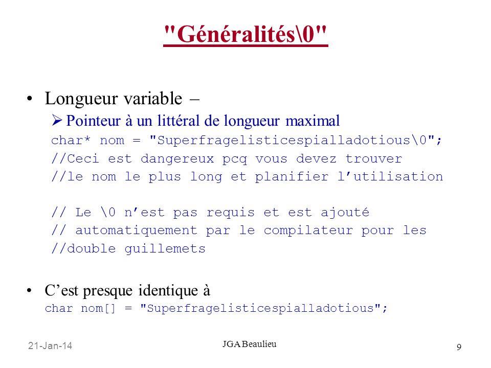 Généralités\0 Longueur variable –