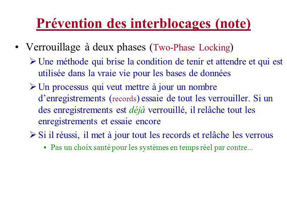 Prévention des interblocages (note)