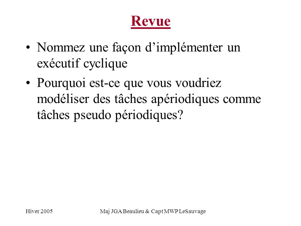 Maj JGA Beaulieu & Capt MWP LeSauvage