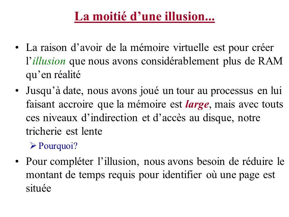 La moitié d'une illusion...
