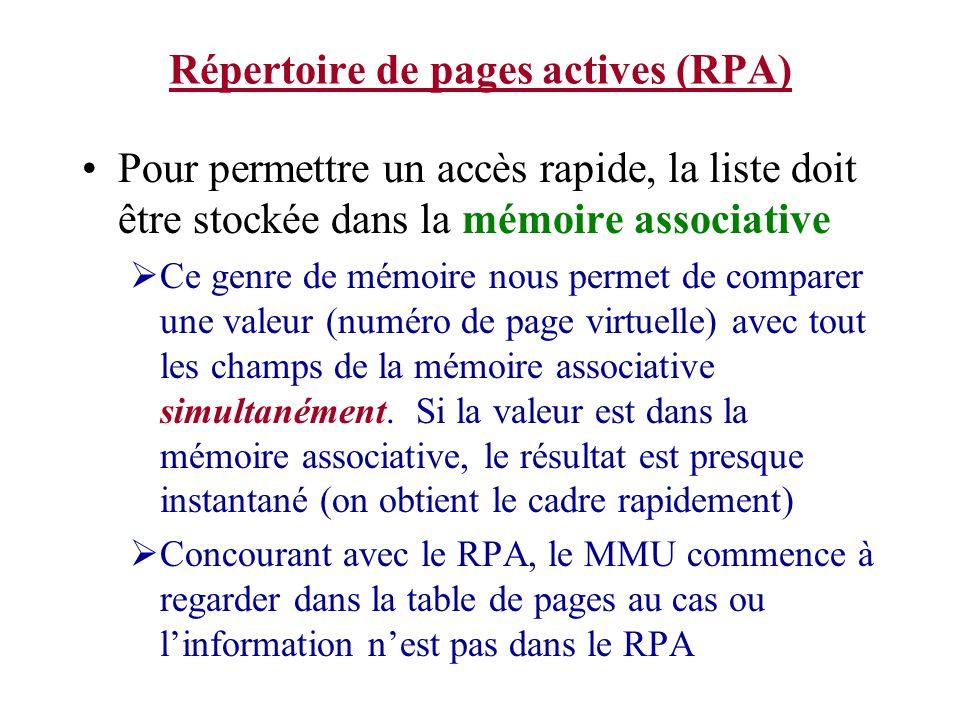 Répertoire de pages actives (RPA)