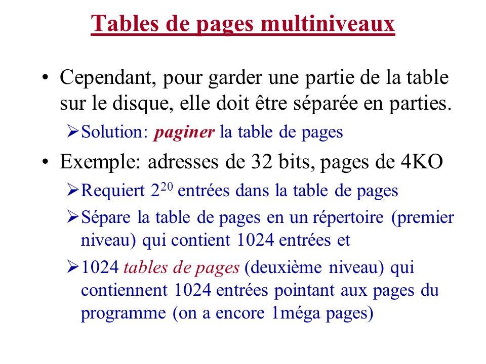 Tables de pages multiniveaux