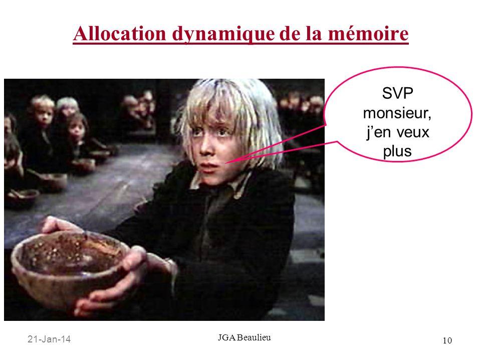 Allocation dynamique de la mémoire