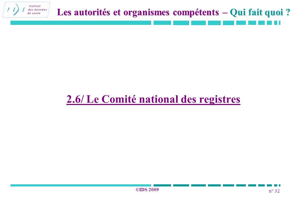 2.6/ Le Comité national des registres