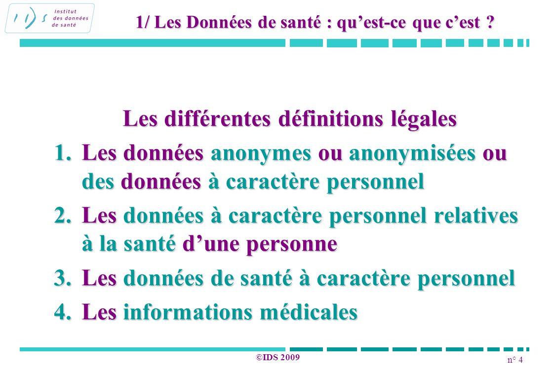 Les différentes définitions légales