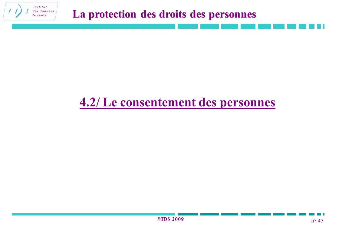 4.2/ Le consentement des personnes