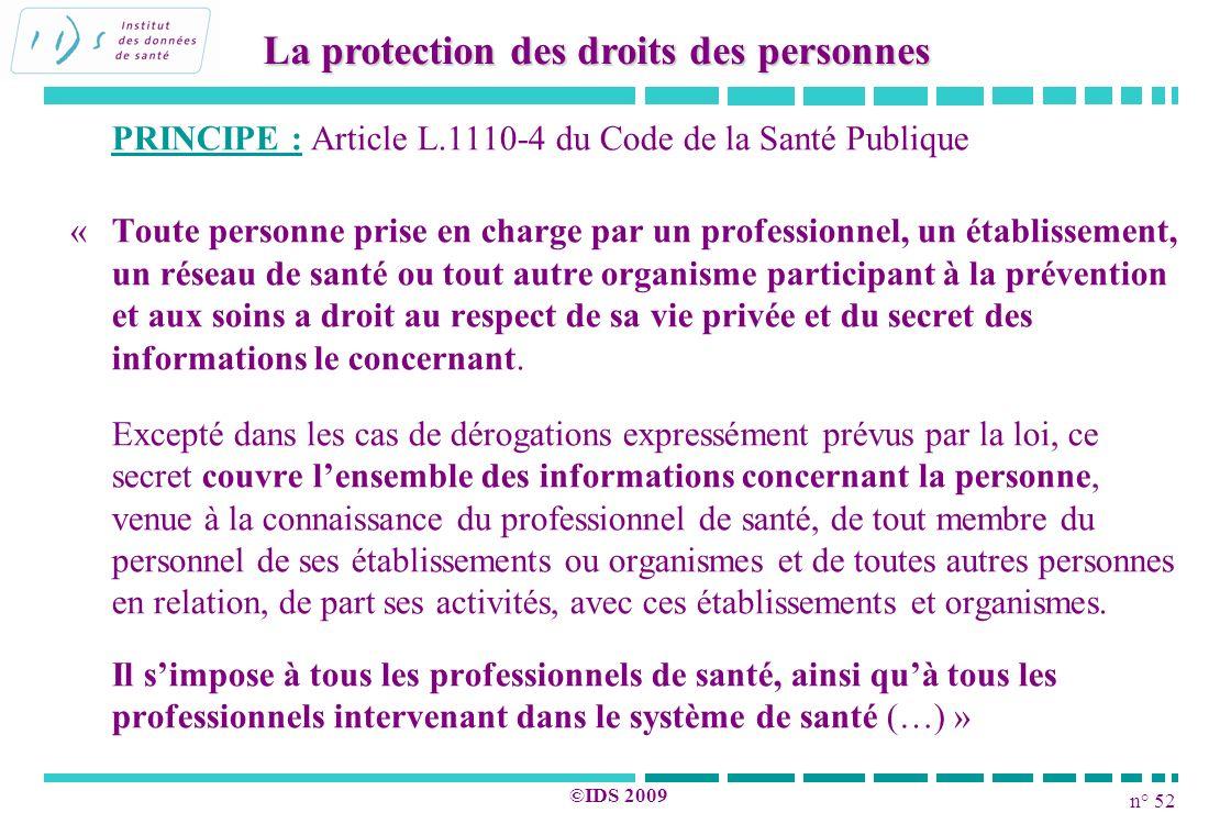 La protection des droits des personnes