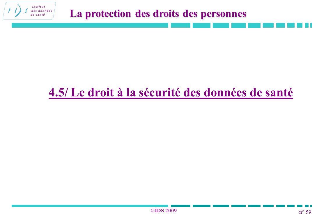 4.5/ Le droit à la sécurité des données de santé