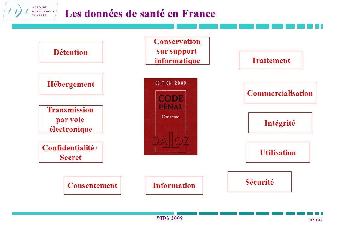 Les données de santé en France