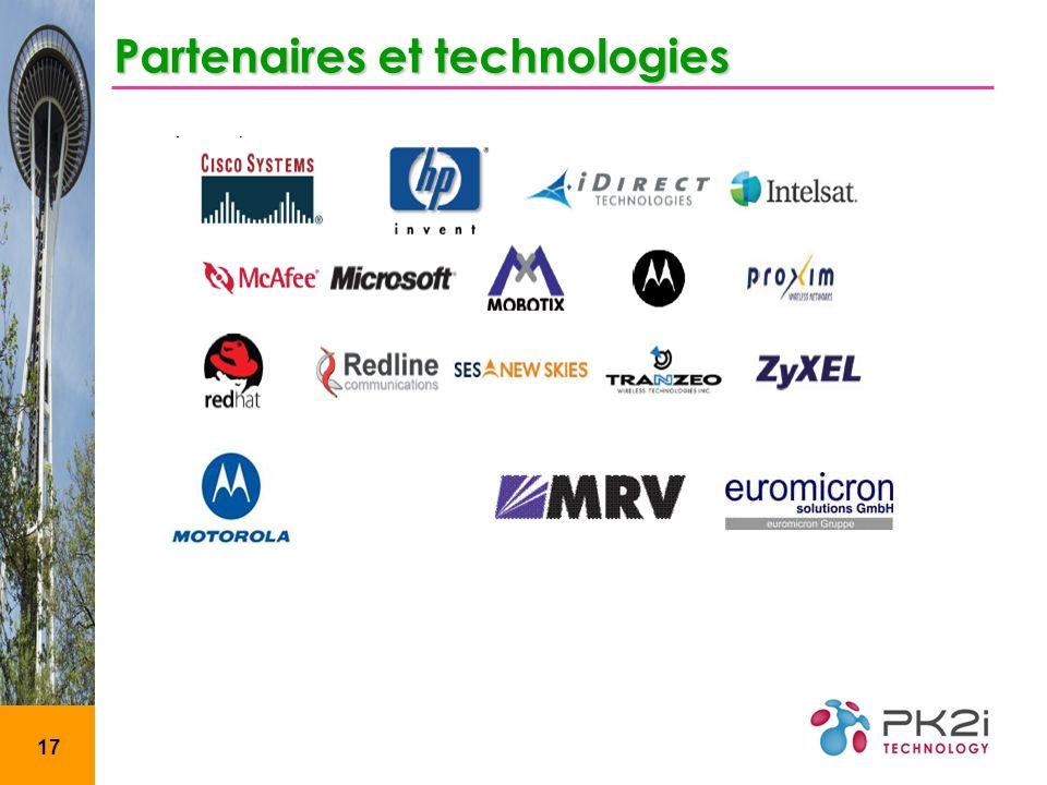 Partenaires et technologies