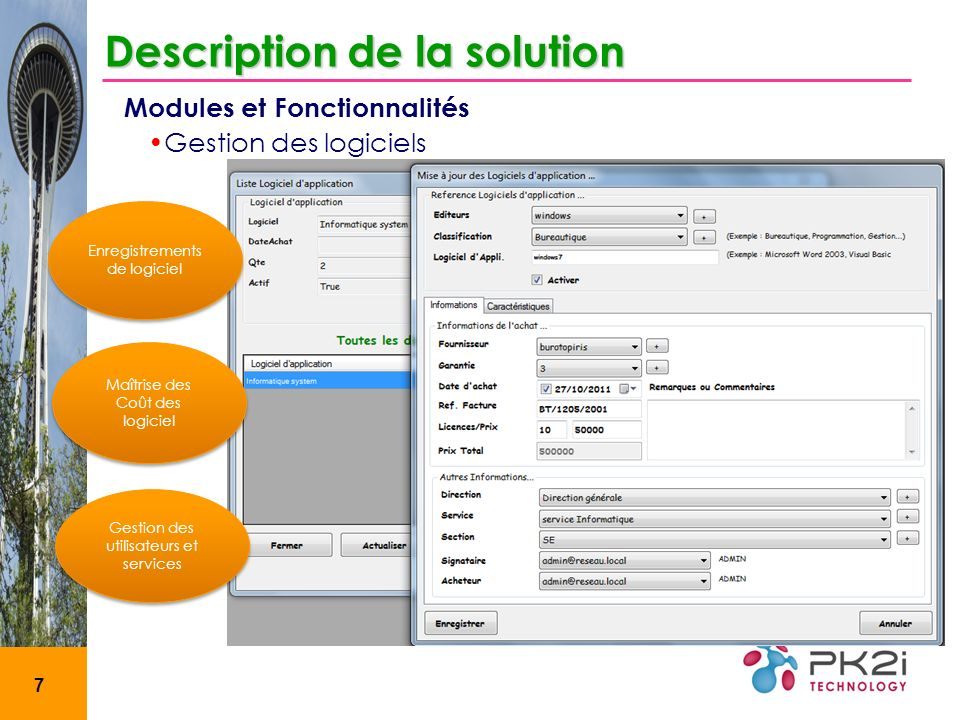 Description de la solution
