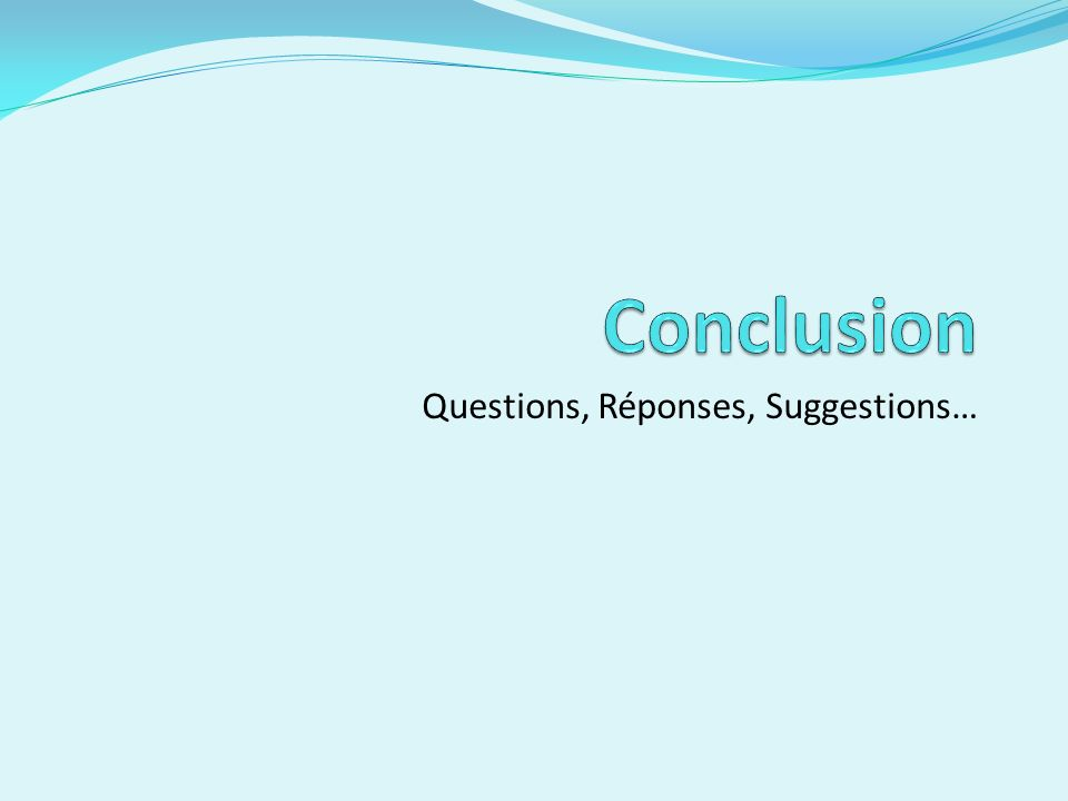 Questions, Réponses, Suggestions…