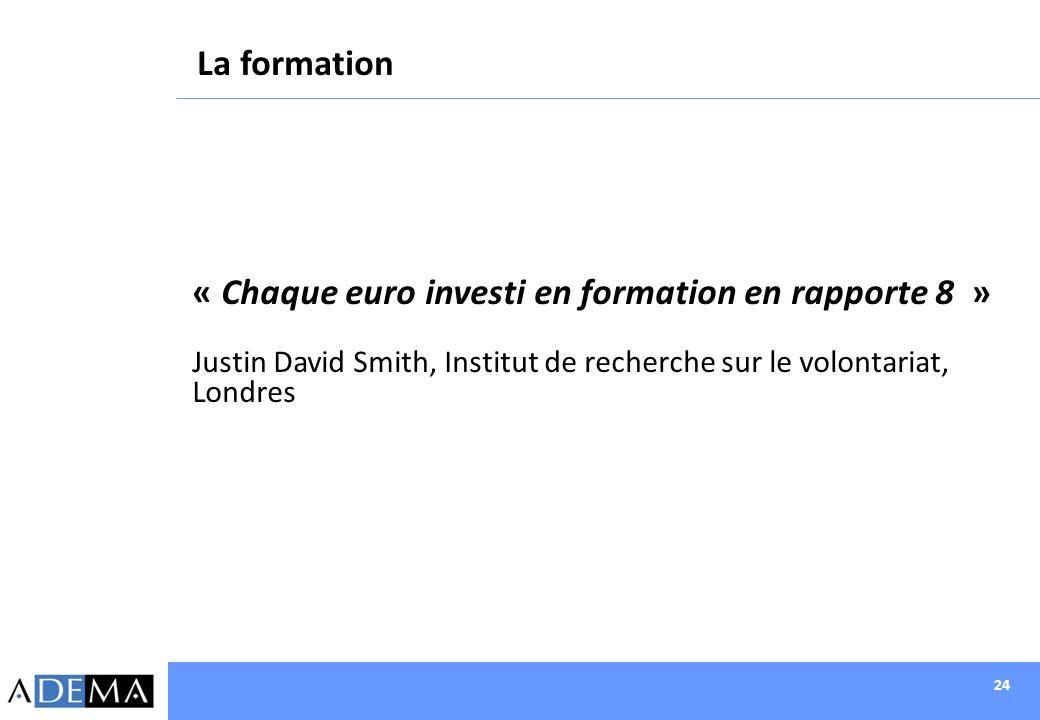 « Chaque euro investi en formation en rapporte 8 »