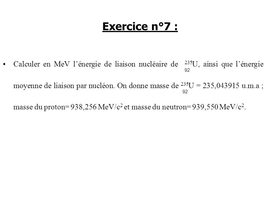 Exercice n°7 :