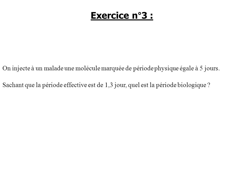 Exercice n°3 :