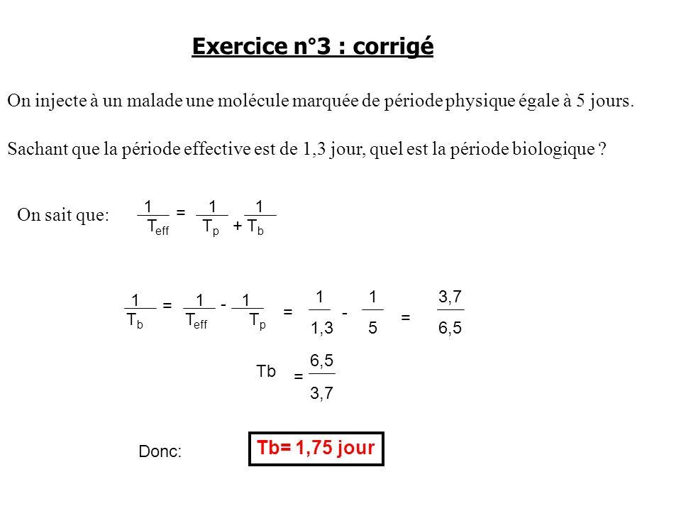 Exercice n°3 : corrigé