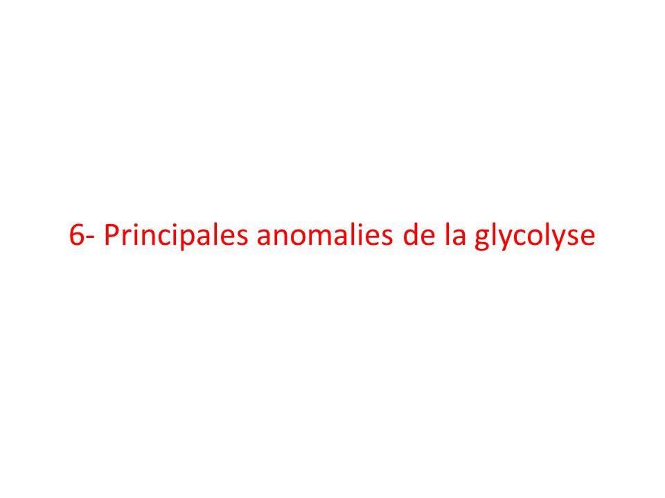 6- Principales anomalies de la glycolyse