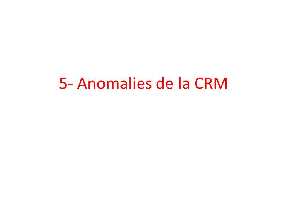 5- Anomalies de la CRM