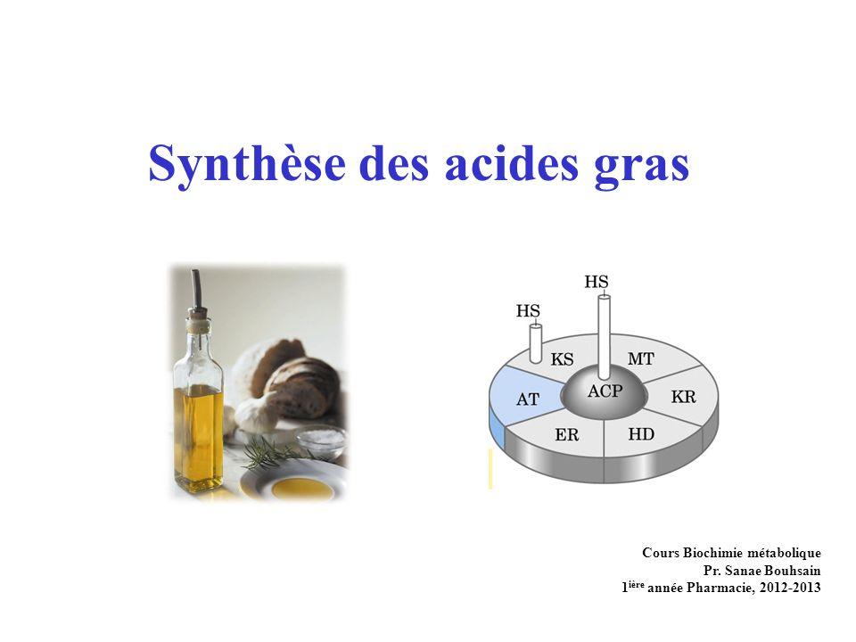 Synthèse des acides gras