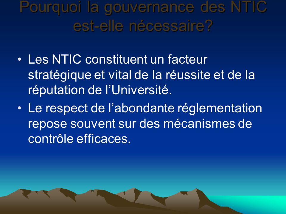 Pourquoi la gouvernance des NTIC est-elle nécessaire