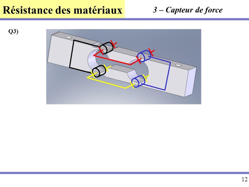3 – Capteur de force Q3)