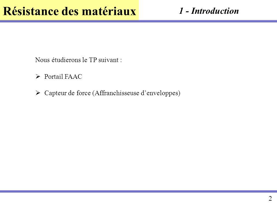 1 - Introduction Nous étudierons le TP suivant : Portail FAAC