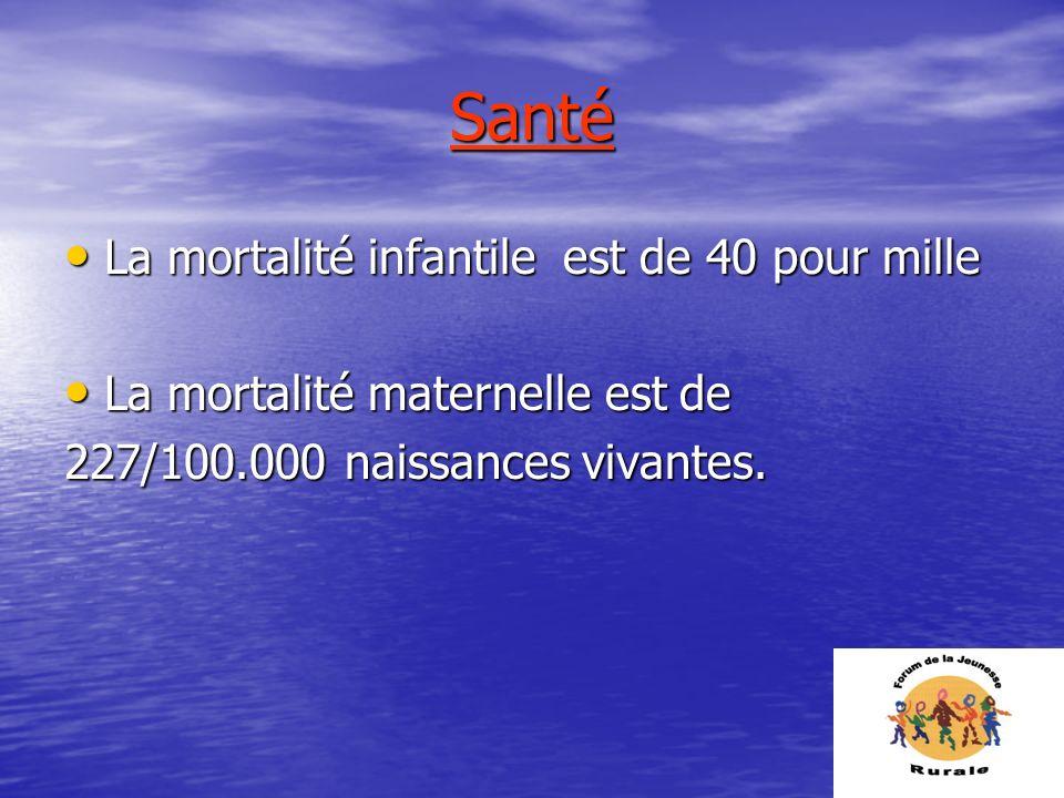 Santé La mortalité infantile est de 40 pour mille