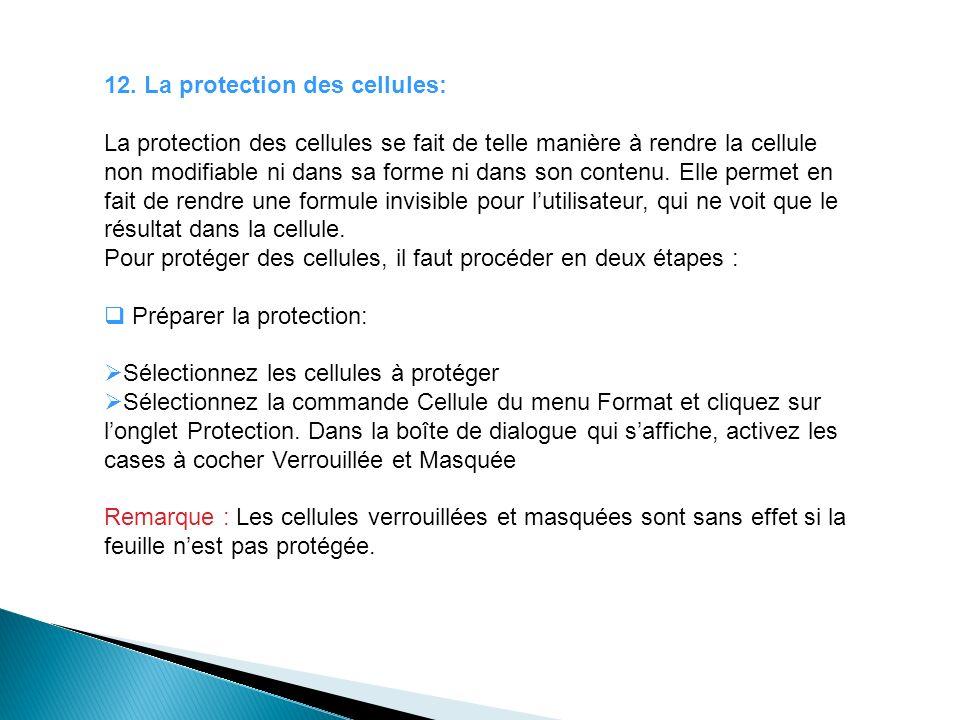12. La protection des cellules: