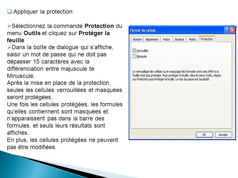 Appliquer la protection: