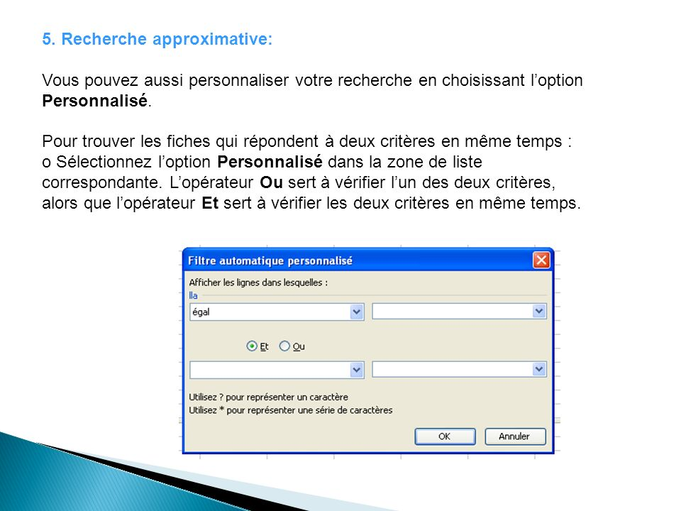 5. Recherche approximative:
