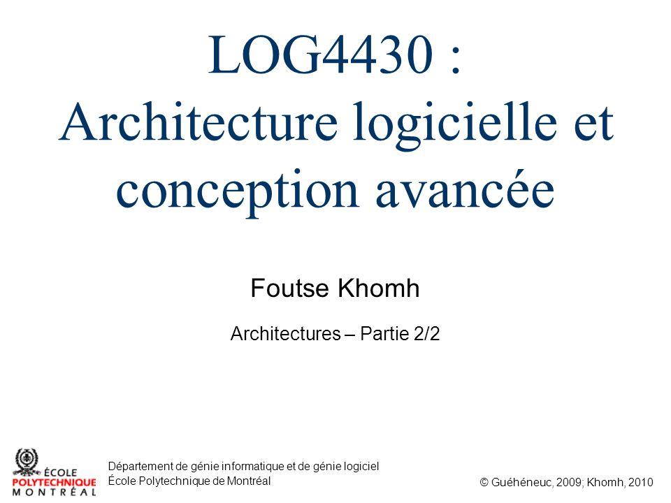 LOG4430 : Architecture logicielle et conception avancée