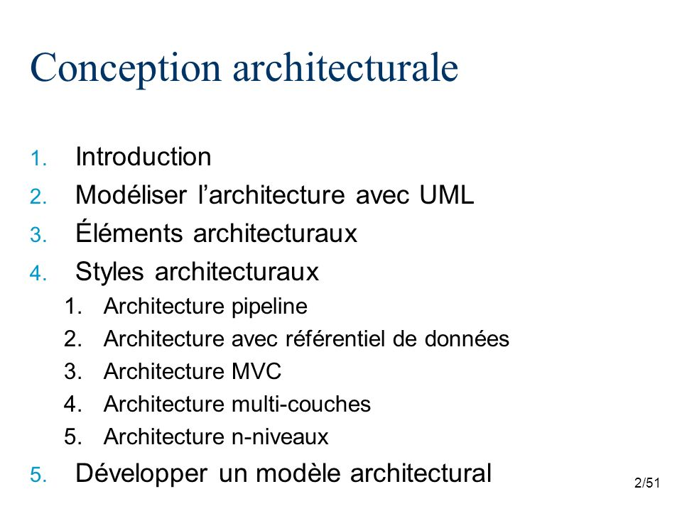 Log4430 architecture logicielle et conception avanc e for Conception architecturale
