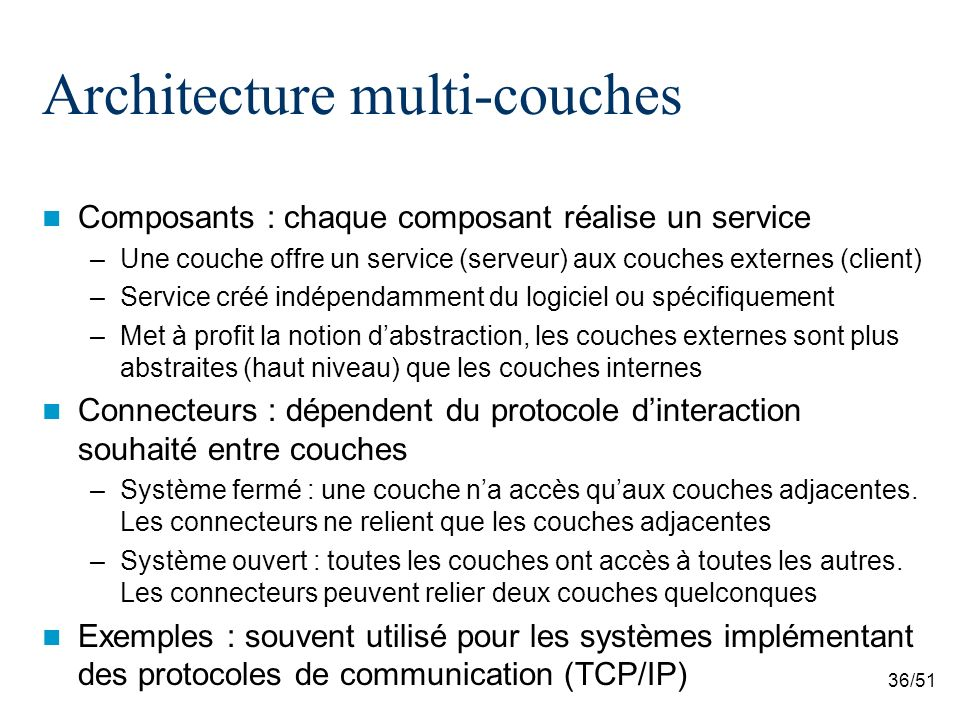 Architecture multi-couches
