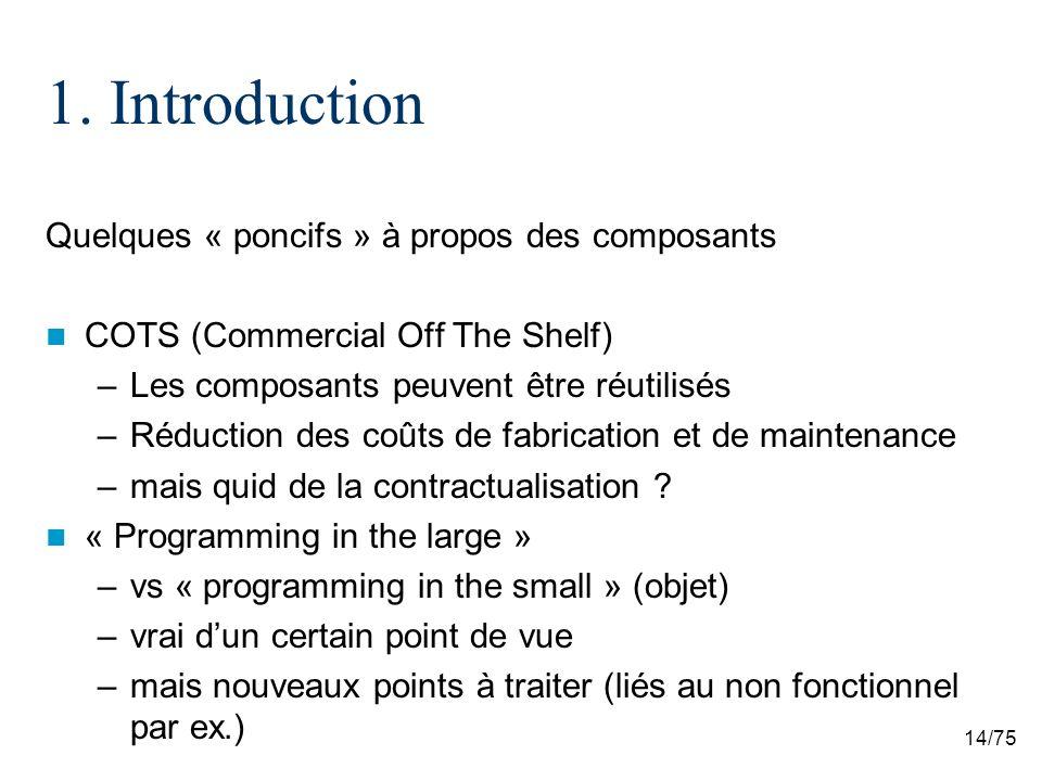 1. Introduction Quelques « poncifs » à propos des composants