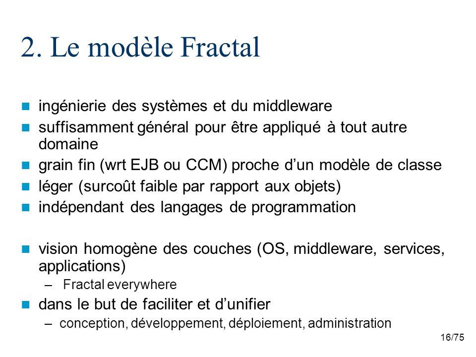 2. Le modèle Fractal ingénierie des systèmes et du middleware