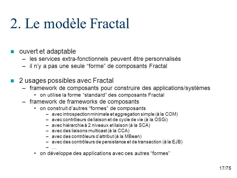 2. Le modèle Fractal ouvert et adaptable