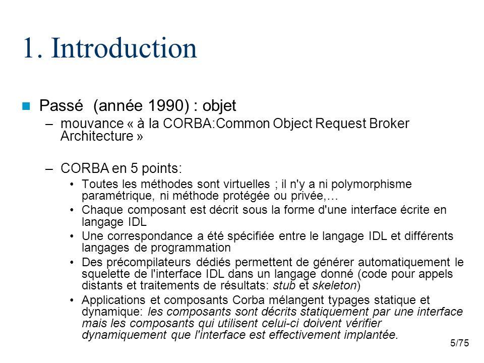 1. Introduction Passé (année 1990) : objet