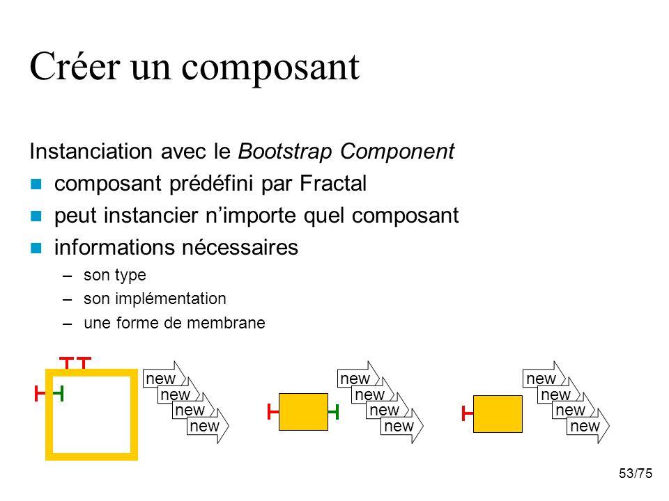 Créer un composant Instanciation avec le Bootstrap Component