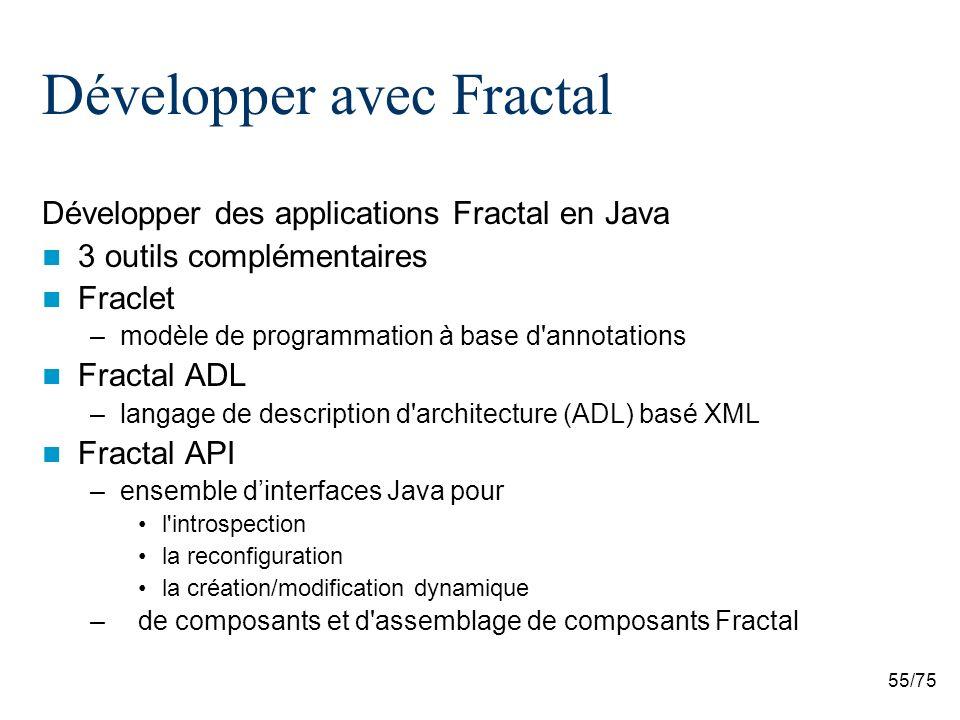 Développer avec Fractal