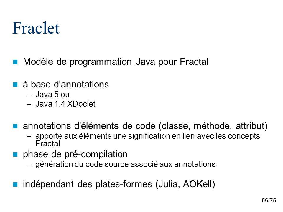 Fraclet Modèle de programmation Java pour Fractal à base d'annotations