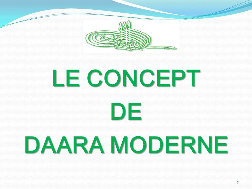 LE CONCEPT DE DAARA MODERNE