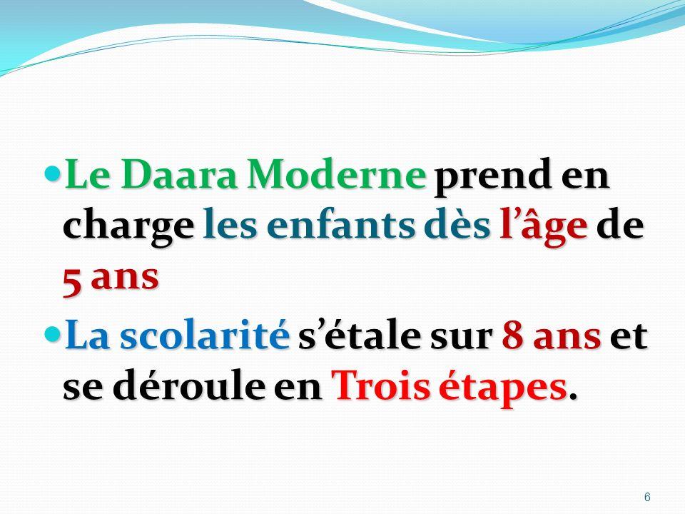 Le Daara Moderne prend en charge les enfants dès l'âge de 5 ans
