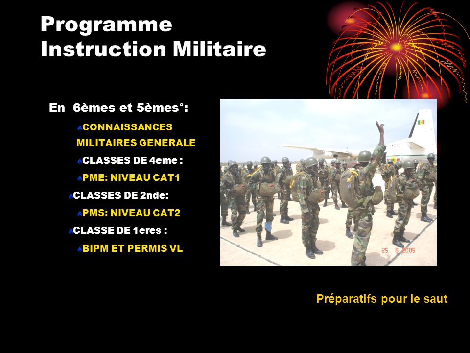 Programme Instruction Militaire
