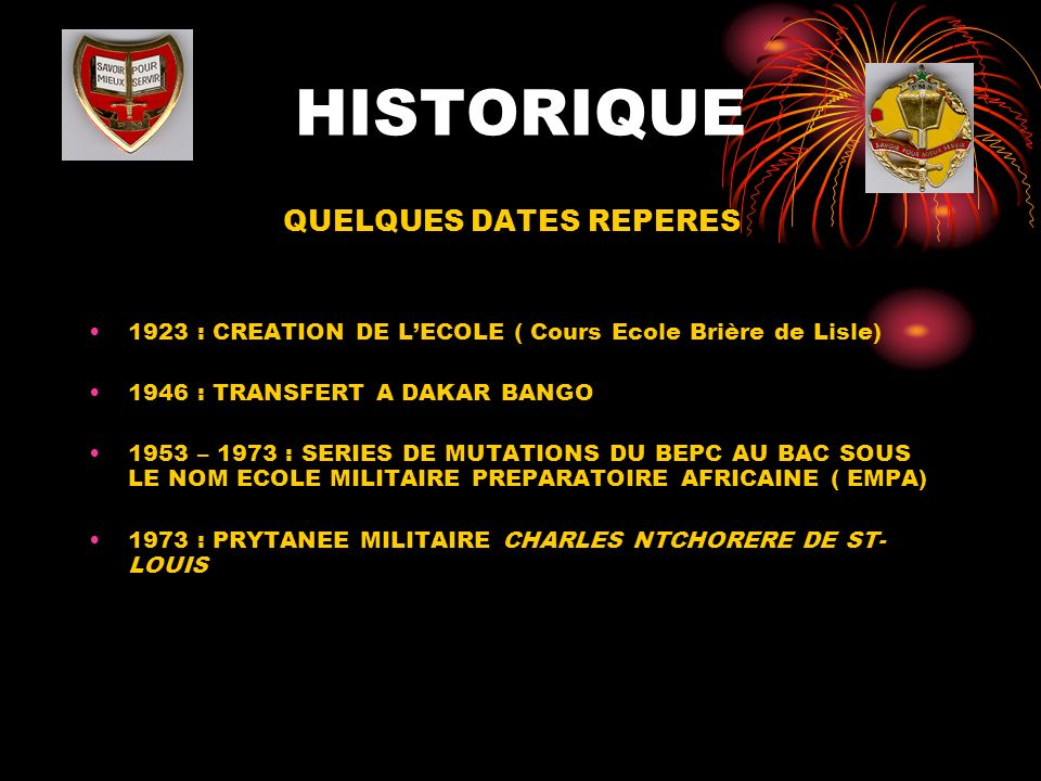 QUELQUES DATES REPERES