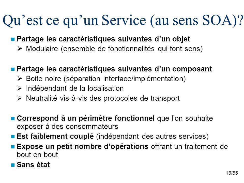 Qu'est ce qu'un Service (au sens SOA)